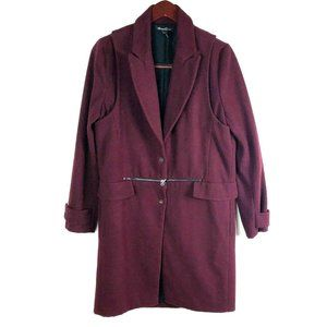 Kenneth Cole New York size S Burgundy Wool Coat
